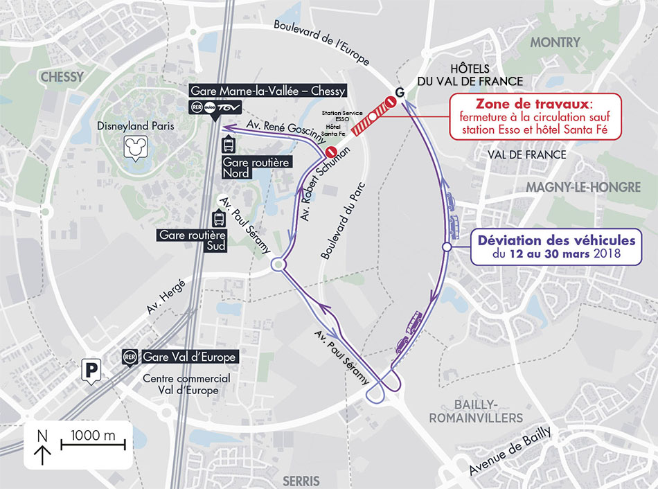 Carte travaux Avenue Robert Schuman