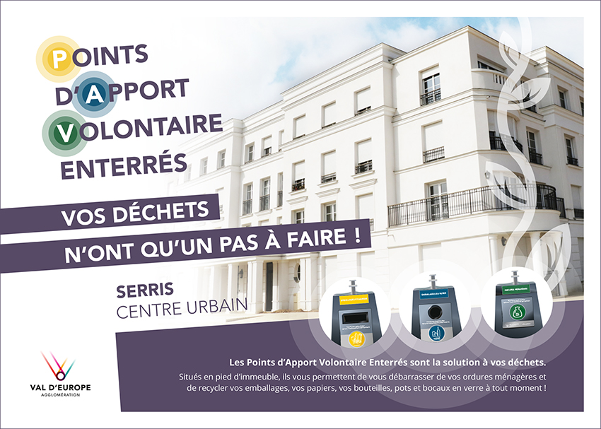 Points d'Apports Volontaire Enterrés à Val d'Europe