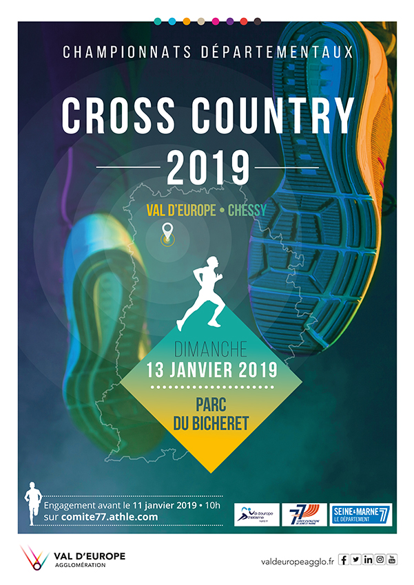 Championnats départementaux de Cross country 2019 à Val d'Europe