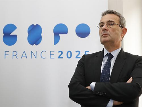 Jean-Christophe-Fromantin-president-dExpoFrance-2025-Patrick Kovarik/AFP