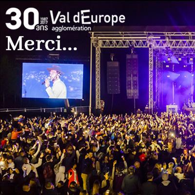 Remerciements 30 ans Val d'Europe agglomération