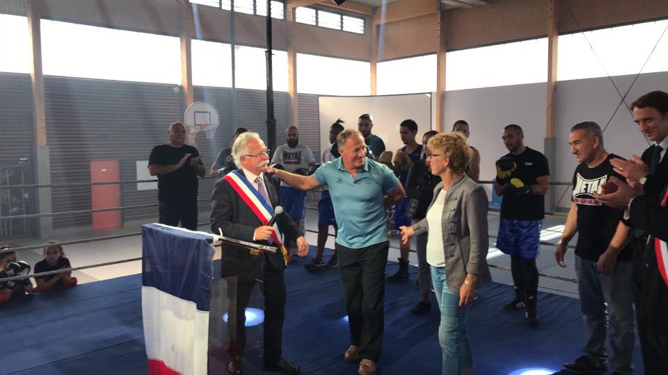 Inauguration de la Halle des sports Alexis Vastine à Magny le Hongre