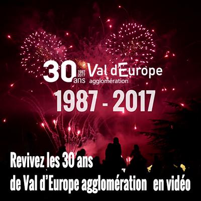 Revivez les 30 ans de Val d'Europe agglomération
