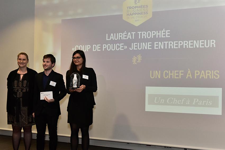 Trophées Business Happiness de Val d'Europe catégorie Coup de pouce Jeune entrepreneur