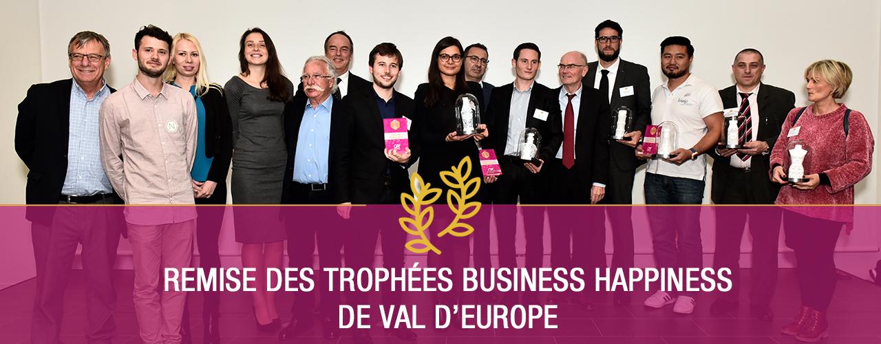 Remise des Trophées Business Happiness de Val d'Europe