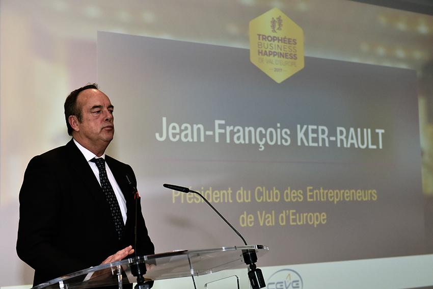 Jean-François Ker-Rault aux Trophées Business Happiness de Val d'Europe