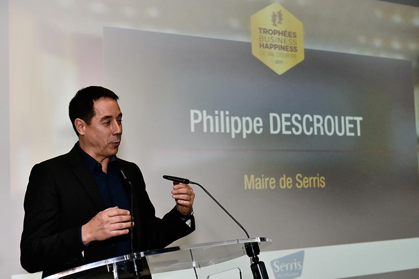 Philippe Descrouet aux Trophées Business Happiness de Val d'Europe