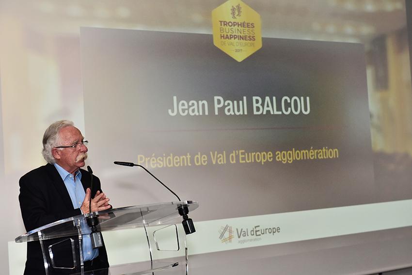 Jean Paul Balcou aux Trophées Business Happiness de Val d'Europe