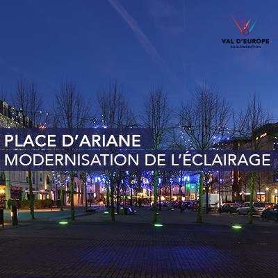 Modernisation de l'éclairage public Place d'Ariane
