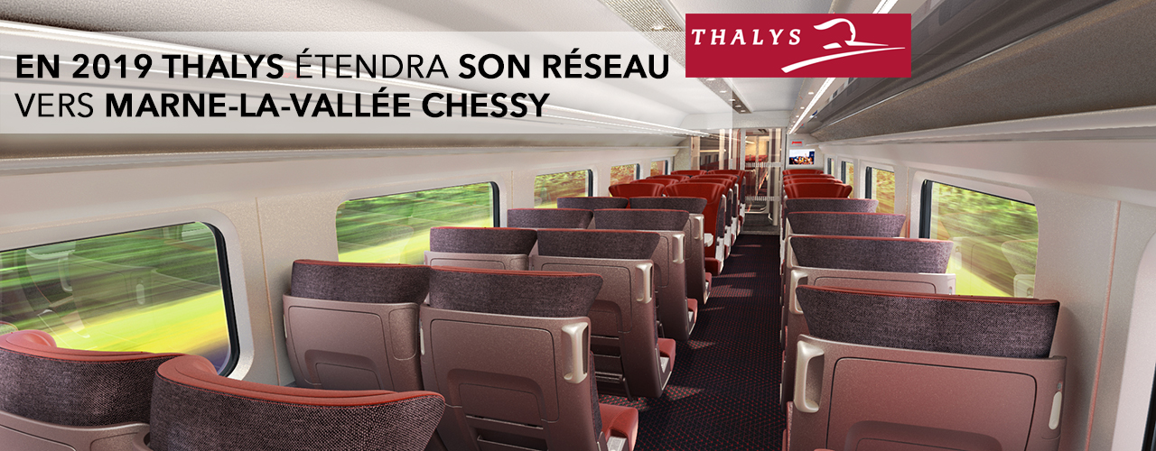 Thalys étendra son réseau français vers Marne-la-Vallée Chessy