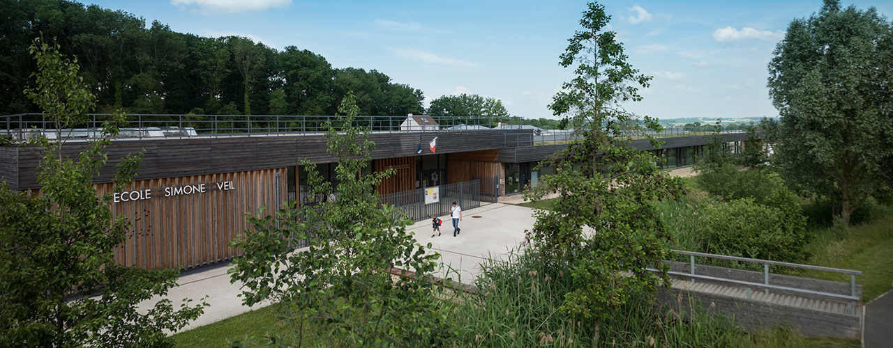 Val d'Europe Agglomération remporte le prix aux Trophées Bois d'Île-de-France 2018 pour le groupe scolaire Simone Veil