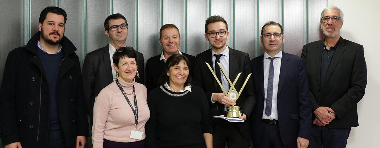 Remise de trophée du concours jeune entrepreneur de Val d'Europe