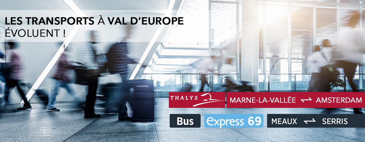 Les transports à Val d'Europe évoluent !