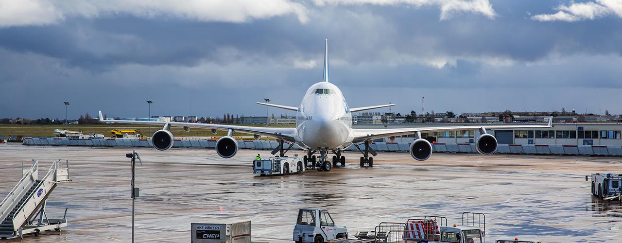 Travaux sur les pistes de l'aéroport d'Orly