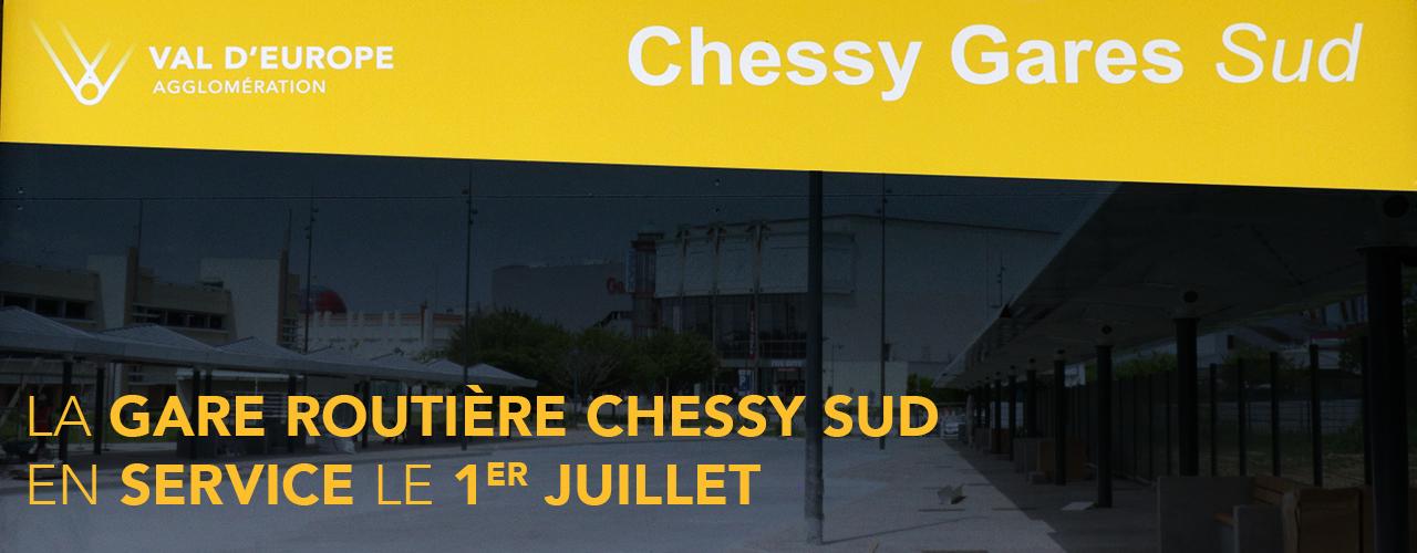 La gare routière Chessy Sud en service ce lundi 1er juillet