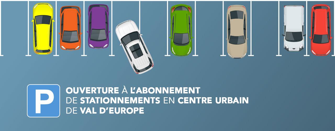 Ouverture à l'abonnement de stationnements en Centre urbain