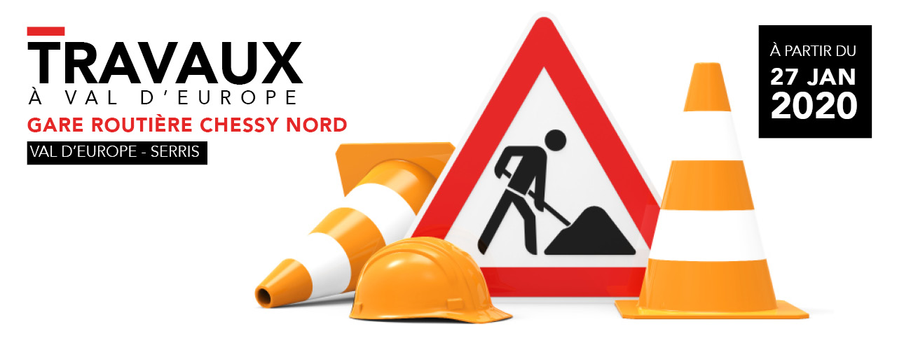 Travaux Gare routière Chessy Nord