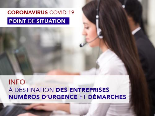 Covid-19 – Info à destination des entreprises