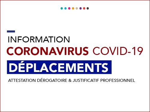 Covid-19 – Déplacements dérogatoires