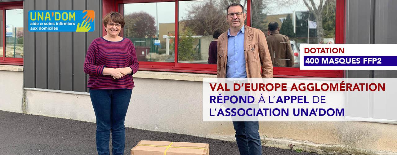 400 masques FFP2: Val d'Europe agglomération répond à l'appel de l'association Una'Dom
