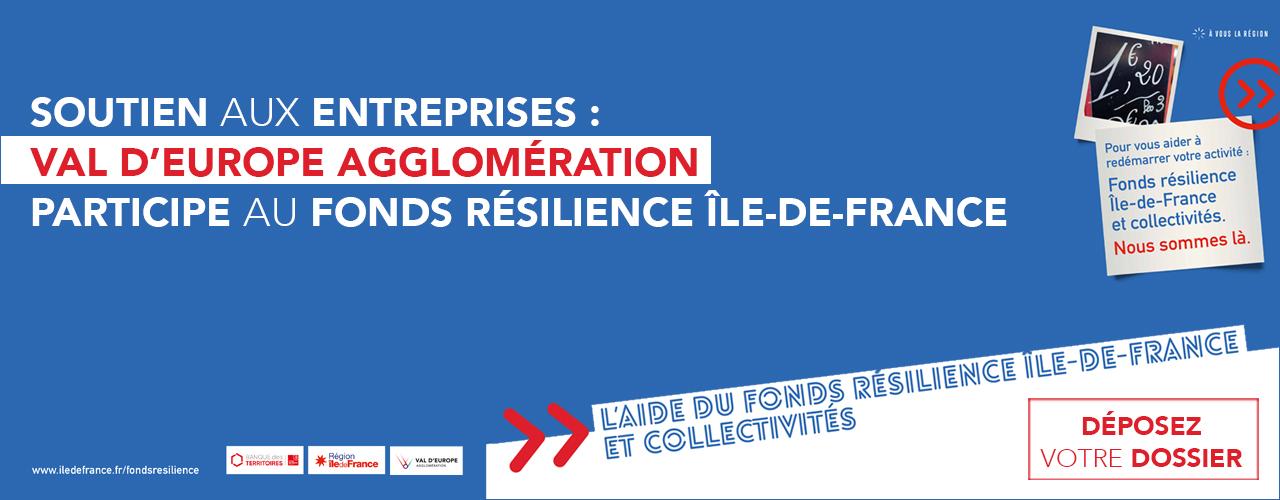 Soutien aux entreprises : Val d'Europe Agglomération participe au Fonds Résilience Île-de-France