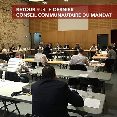 Retour sur le dernier Conseil Communautaire du mandat