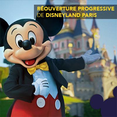 Réouverture progressive de Disneyland Paris à partir du 15 juilletRéouverture progressive de Disneyland Paris à partir du 15 juillet