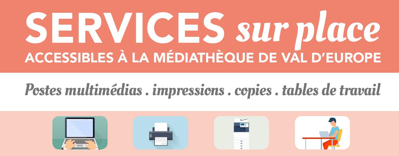 La médiathèque de Val d'Europe rouvre des services sur place