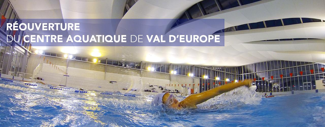 Réouverture du Centre Aquatique de Val d'Europe à partir du 6 juillet