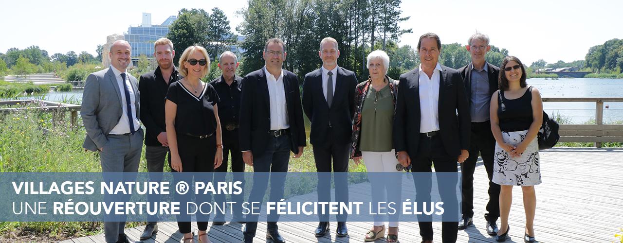 Villages Nature® Paris : une réouverture dont se félicitent les élus de Val d'Europe Agglomération
