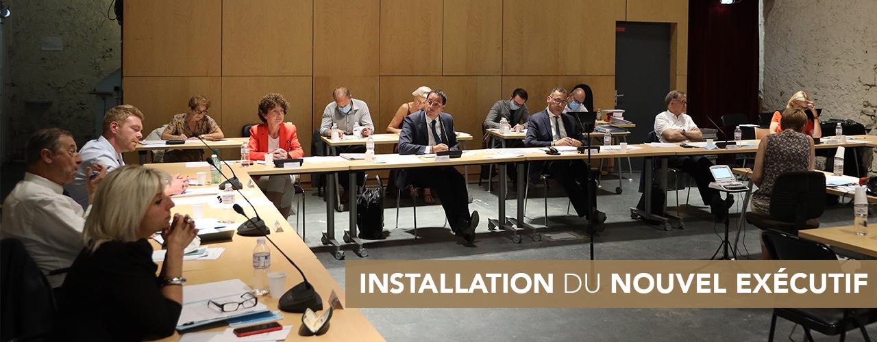 Installation du nouvel exécutif de Val d'Europe Agglomération