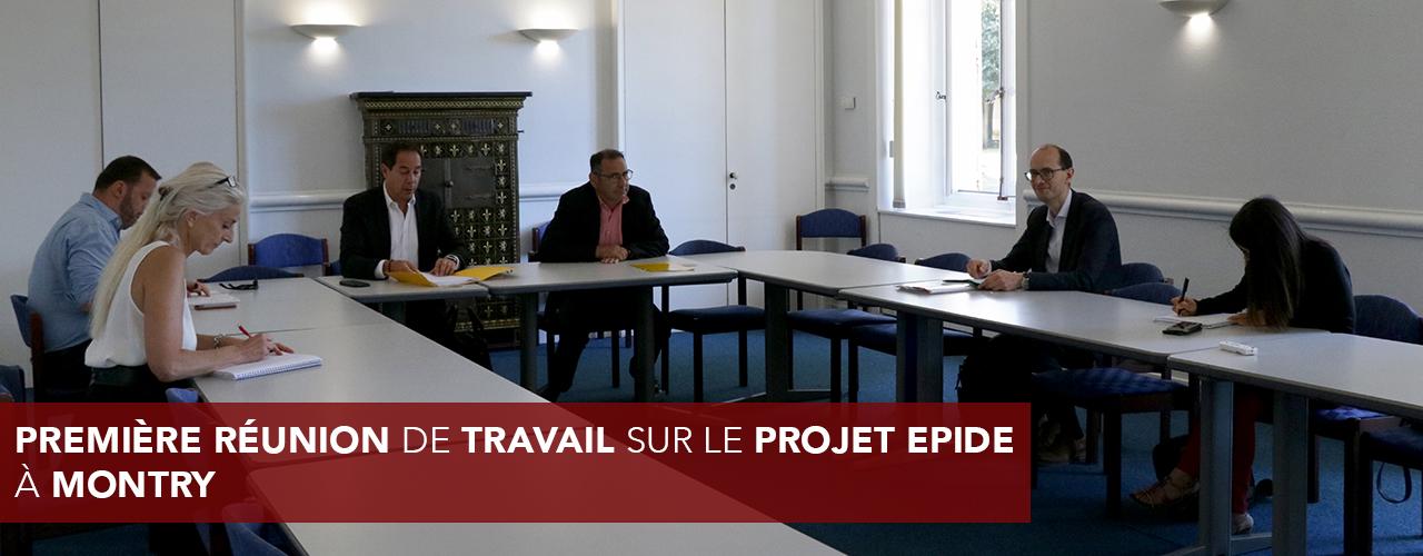 Première réunion de travail sur le projet EPIDE à Montry