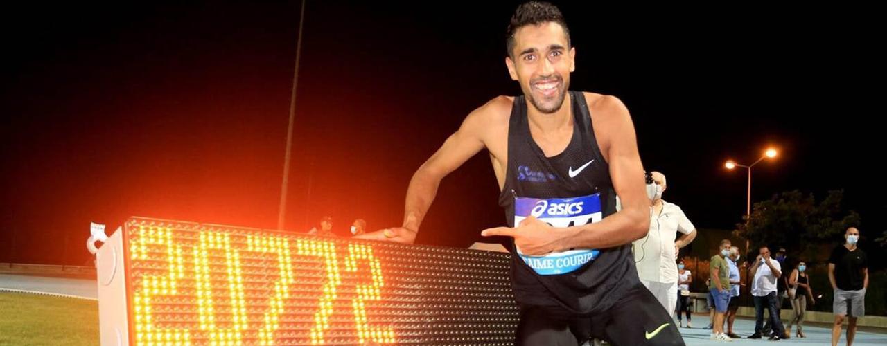 Morhad Amdouni est champion de France de l'heure sur piste !