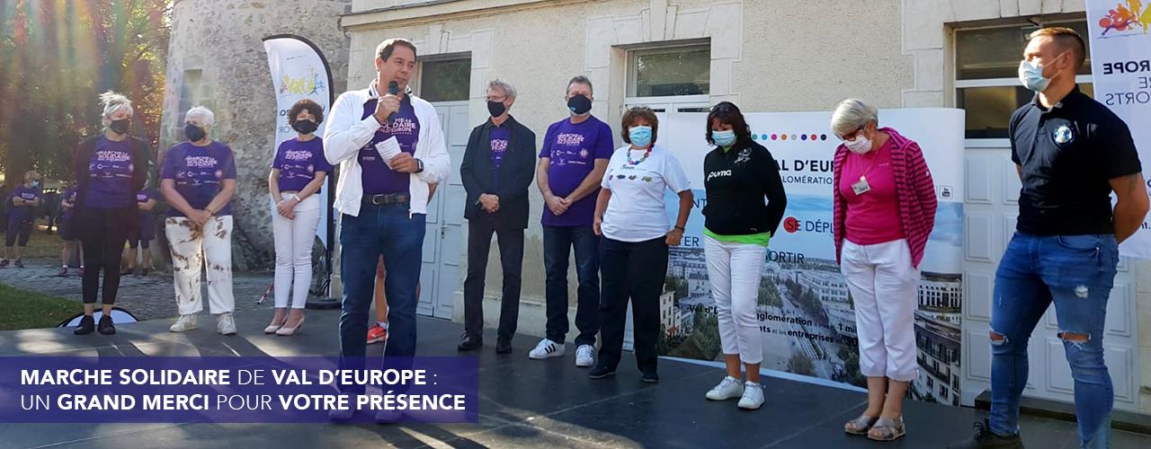 Marche solidaire de Val d'Europe : un grand merci pour votre présence !