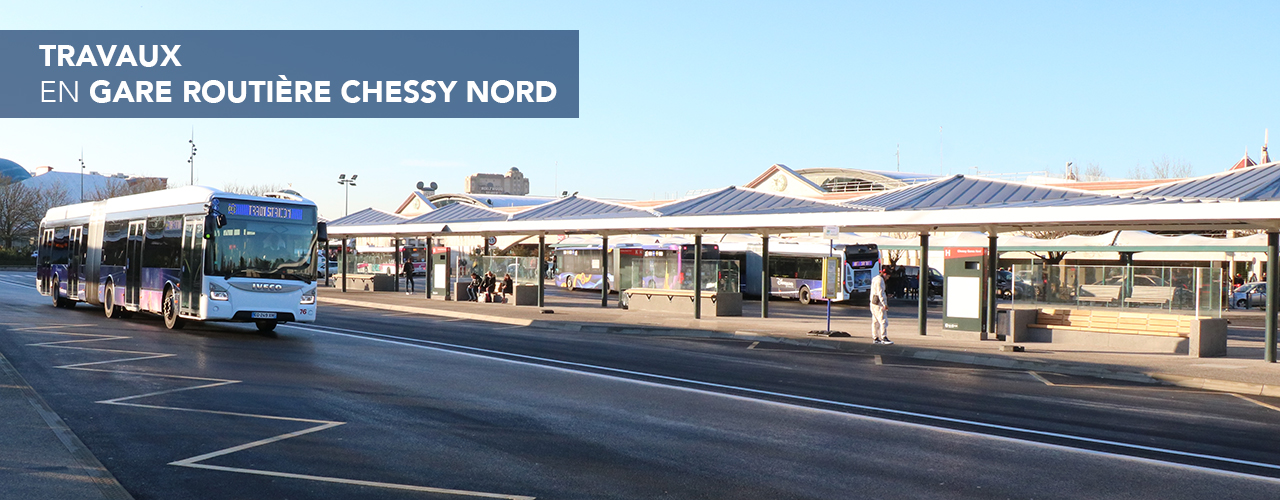 Travaux en gare routière Chessy Nord