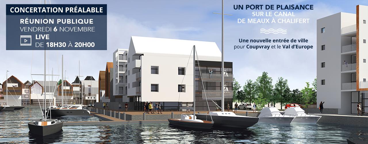 Réunion publique live concertation Port de plaisance à Coupvray