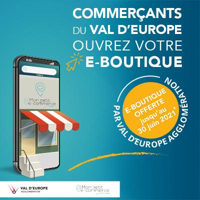 Vous êtes commerçant au Val d'Europe et souhaitez booster vos ventes ? Ouvrez dès aujourd'hui votre boutique en ligne gratuitement !