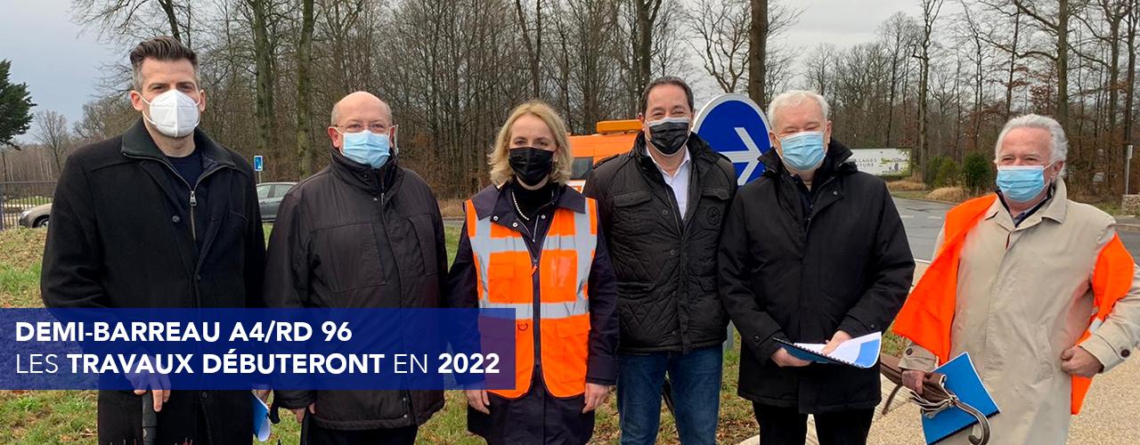 Demi-barreau A4/RD 96 : les travaux débuteront en 2022