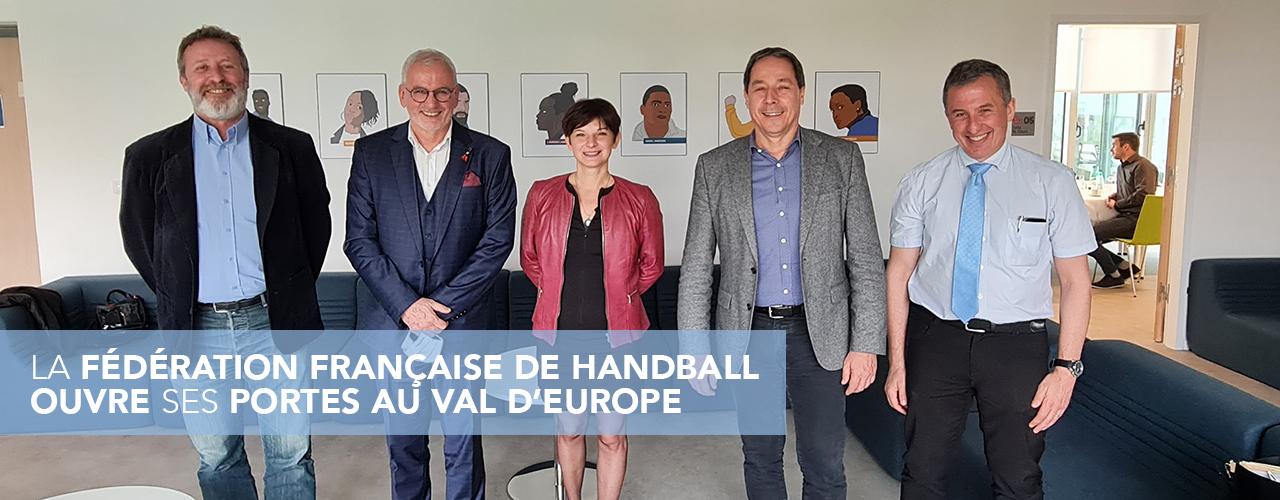 La Fédération Française de Handball ouvre ses portes au Val d'Europe
