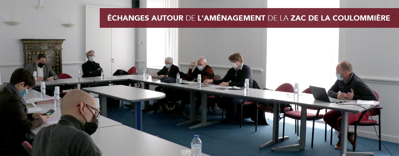 Échanges autour de l'aménagement de la ZAC de la Coulommière