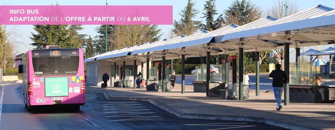 Info bus – adaptation de l'offre à partir du 6 avril