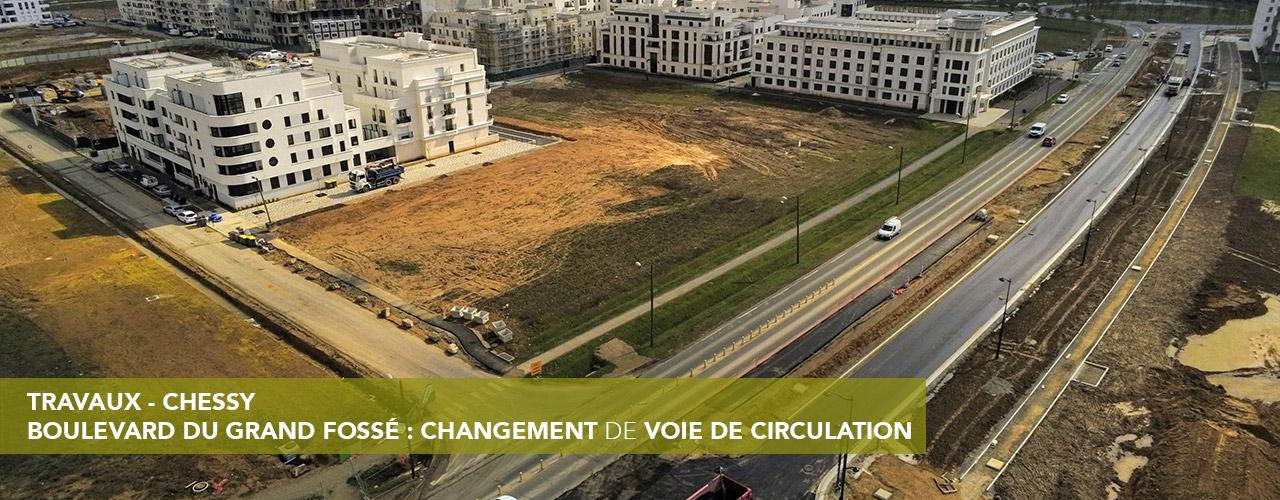 Boulevard du grand fossé : changement de voie de circulation
