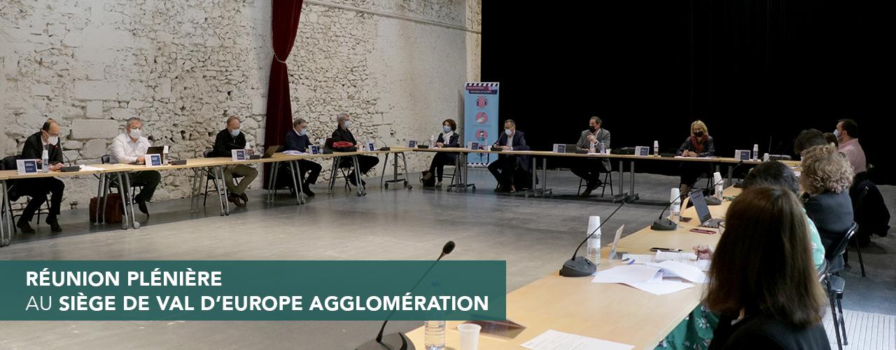 Réunion plénière au siège de Val d'Europe Agglomération