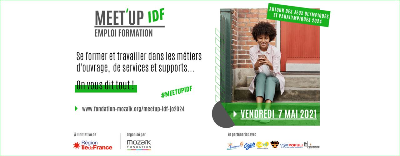 Meet'up IDF emploi-formation : métiers d'ouvrage, de services et supports autour des jeux 2024