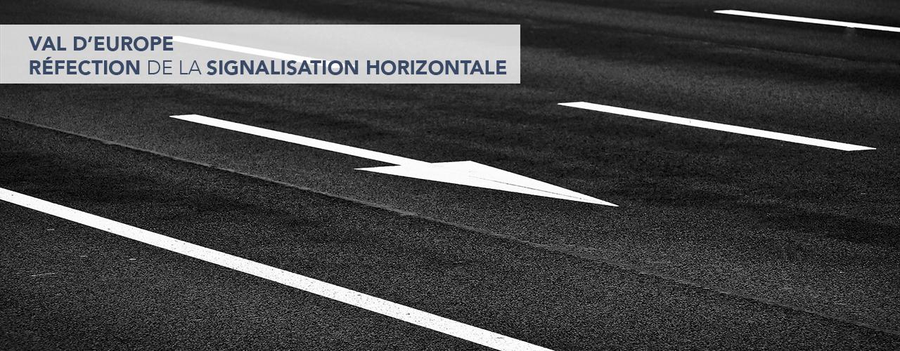 Réfection de la signalisation horizontale