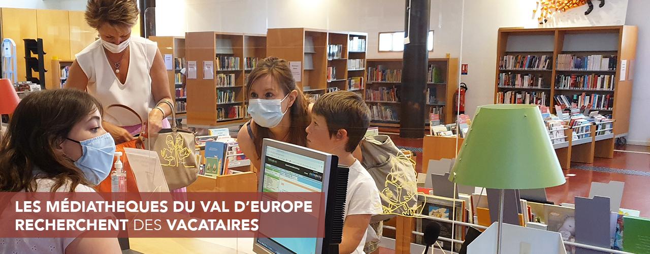 Les médiathèques du Val d'Europe recherchent des vacataires pour la rentrée