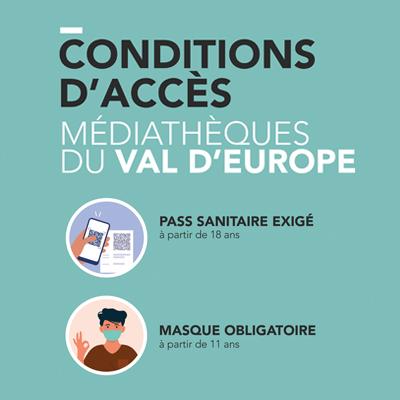 Médiatheque du Val d'Europe Pass sanitaire
